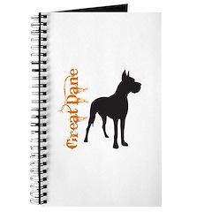 Grunge Great Dane Silhouette Journal
