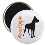 Grunge Great Dane Silhouette Magnet