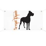 Grunge Great Dane Silhouette Banner