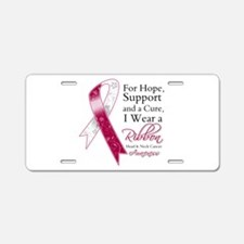 Head Neck Cancer Ribbon Aluminum License Plate