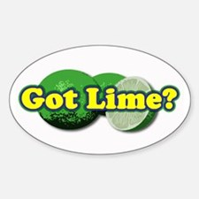 Got Lime? Oval Stickers