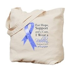 Esophageal Cancer Ribbon Tote Bag