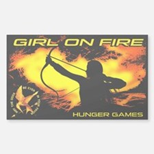 Girl on Fire 2 Decal