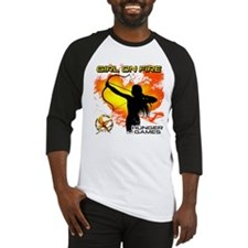 Girl on Fire 2 Baseball Jersey