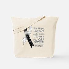 Carcinoid Cancer Ribbon Tote Bag