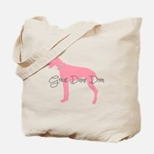 Diamonds Great Dane Diva Tote Bag
