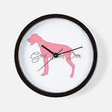 Diamonds Great Dane Diva Wall Clock