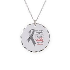 Brain Cancer Ribbon Necklace