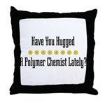 Hugged P. Chemist Throw Pillow