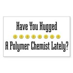 Hugged P. Chemist Rectangle Sticker