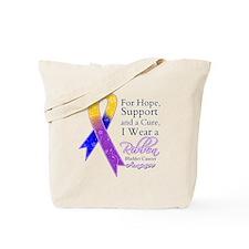 Bladder Cancer Ribbon Tote Bag