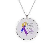 Bladder Cancer Ribbon Necklace