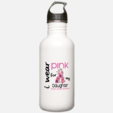 I Wear Pink 43 Breast Cancer Water Bottle