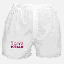 I Love Josiah Boxer Shorts