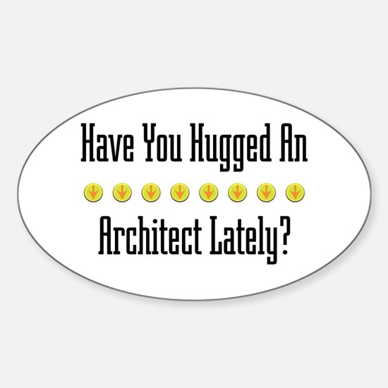 Hugged Architect Oval Decal