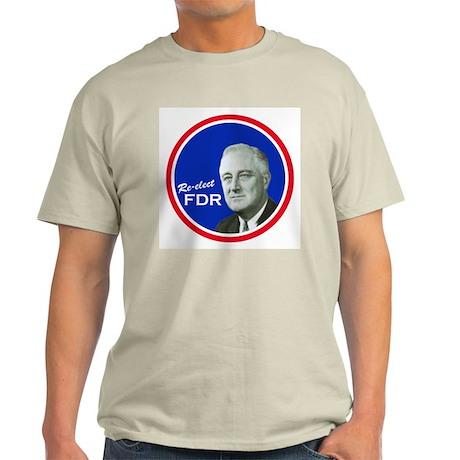 FDR CAMPAIGN BUTTON Ash Grey T-Shirt