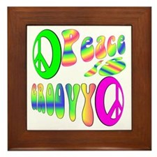 Peace IS Groovy! Framed Tile
