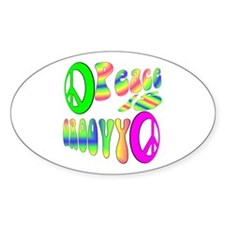 Peace IS Groovy! Oval Decal