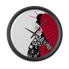Geisha Large Wall Clock