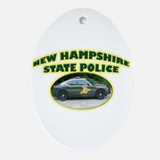New Hampshire State Police Ornament (Oval)