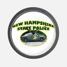 New Hampshire State Police Wall Clock
