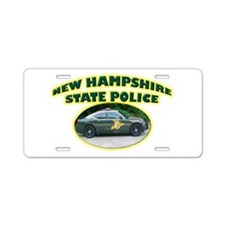 New Hampshire State Police Aluminum License Plate
