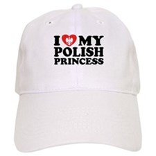 I Love My Polish Princess Baseball Cap