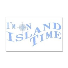 Island Time Car Magnet 20 x 12