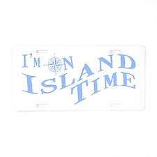Island Time Aluminum License Plate
