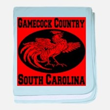Gamecock Country South Carolina baby blanket