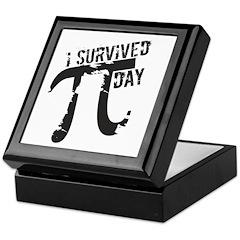 Funny I Survived Pi Day Keepsake Box