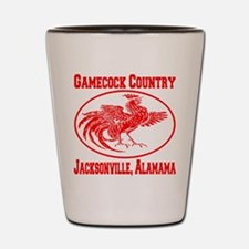 Gamecock Country Jacksonville, Alabama Shot Glass