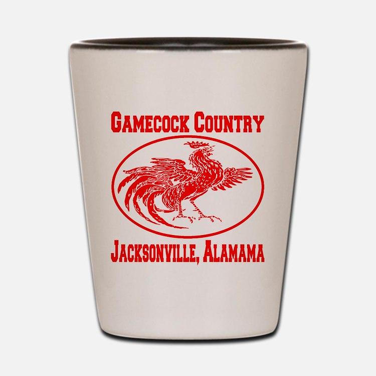 Gamecock Country Jacksonville, Alabama Shot Glass