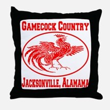 Gamecock Country Jacksonville, Alabama Throw Pillo