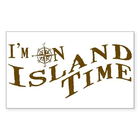 Island Time Sticker (Rectangle)