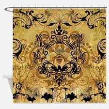Golden Bee Garden Shower Curtain