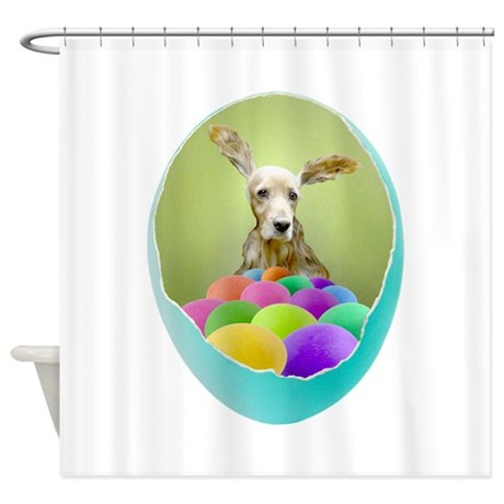 Dog Easter Egg Shower Curtain