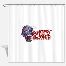 Angry Zombie Chaos logo Shower Curtain