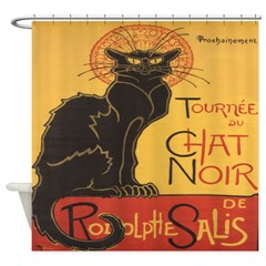 Le Chat Noir Shower Curtain