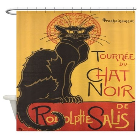 Le Chat Noir Shower Curtain By Ethnocentric