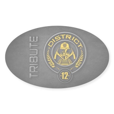 District 12 TRIBUTE Sticker (Oval)