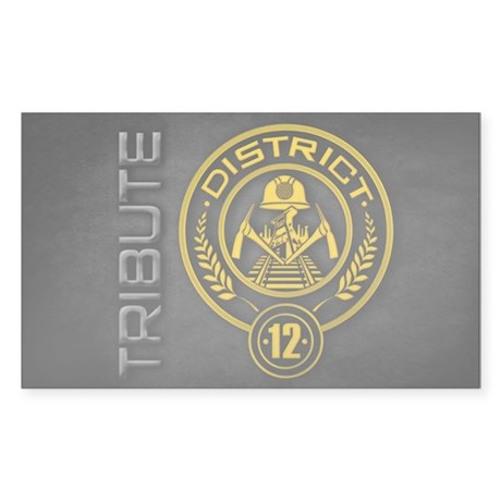 TRIBUTE - District 12 Sticker (Rectangle)