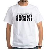 Professional groupie Mens White T-shirts