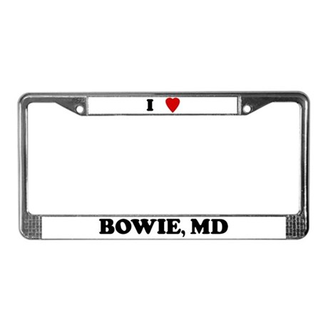 I Love Bowie License Plate Frame