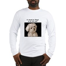 Cute Maltese Long Sleeve T-Shirt