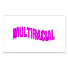 Multiracial Pride Rectangle Decal
