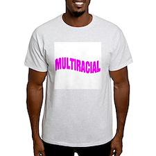 Multiracial Pride Ash Grey T-Shirt