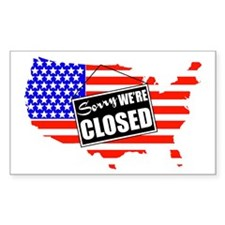 Sorry We're Closed Rectangle Decal