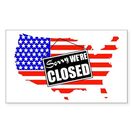 Sorry We're Closed Rectangle Sticker