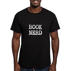 Book Nerd Men's Fitted T-Shirt (dark)